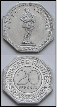 German Metal Coin Notgeld